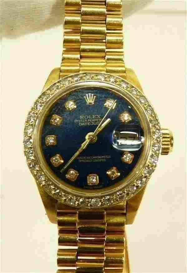 Rolex 18k Yellow Gold President Diamond Bezel Watch