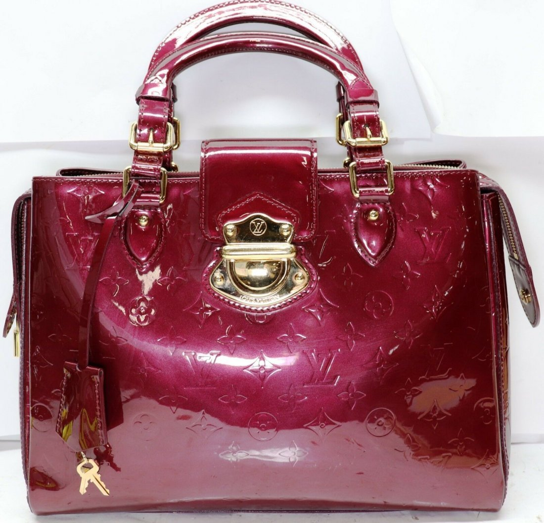 Louis Vuitton Melrose Ave Vernis Leather Burgandy Bag