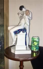 "Huge 15""Antique Rosenthal Bavaria Erotic Sculpture Nude"