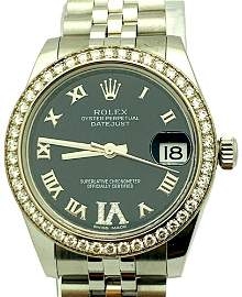 Rolex Datejust Diamond Ladies Watch 31mm  178384
