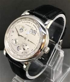 A. Lange & Sohne 1 Time Zone 116.025 Platinum Men Watch