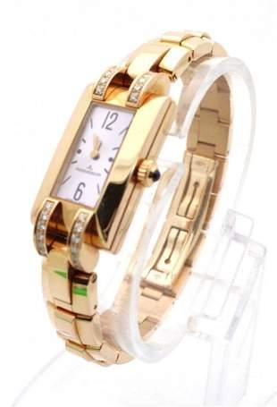 Jaeger LeCoultre Ideale 18K Yellow Gold Diamonds Watch