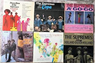 Lot 6 Vinyl Records Lps Supremes Diana Ross