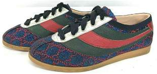 Mens GUCCI Falacer GG Lurex With Web Sneakers