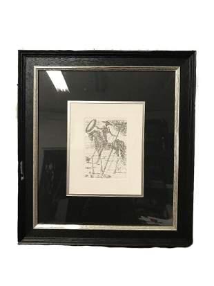 Salvador Dali Don Quixote Framed Print