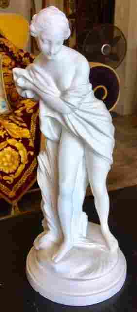 Ca. 1775 Sevres France large 14' NUDE Statue