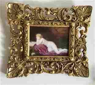 Antique KPM Ca.1830 Porcelain Plaque Nude