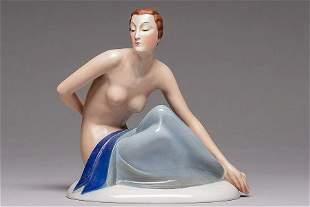 Rosenthal Art Deco Figurine Seated Nude