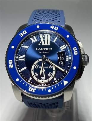 Cartier Calibre de Cartier WSCA0010 Blue Men's Watch