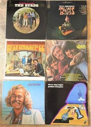 lot 6 Vintage Rock Vinyl Records Birds Monkees