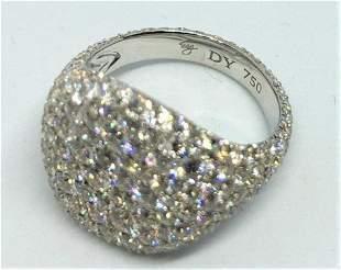 David Yurman Pave Diamonds 18K White Gold Pinky Ring