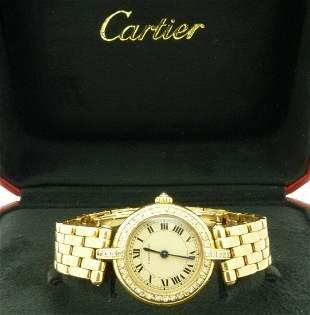 Cartier Panthere 18K Gold Diamonds Ladies Watch