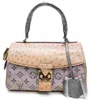 LOUIS VUITTON Ostrich Monogram Comedie Carrousel Bag