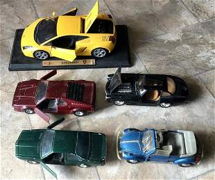 Lot  5 Toy Cars Diecast Made in Italy Mercedes VW BMW