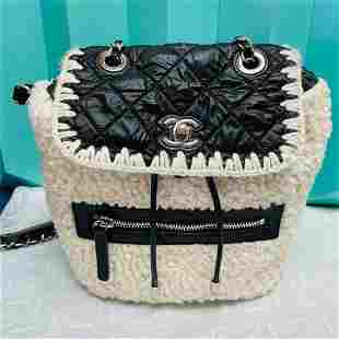 Chanel Coco Neige Backpack White Lamb