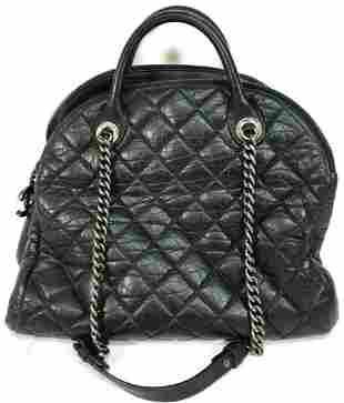 Chanel Black Lambskin Cambon 31 Rue Leather Tote Bag