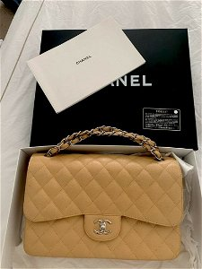 Classic Chanel Caviar Quilted Jumbo Double Flap Bag