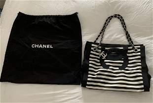 Limited Edition-Chanel Canvas Tote Shoulder Bag
