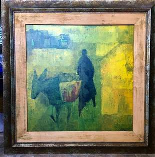 Wolf Reuther (German, 1917-2004) Oil Painting on Board