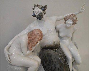 Rosenthal Bavaria HUGE  porcelain sculpture Faun Nudes
