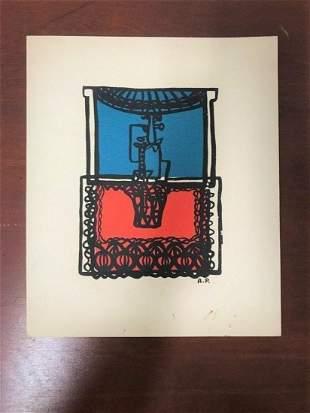 Amelia Pelaez (Cuban, 1896-1968) Untitled Serigraph