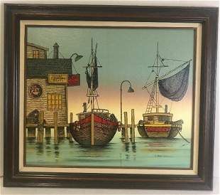 H. Hargrove (Italian/American, b.1941) Oil Painting