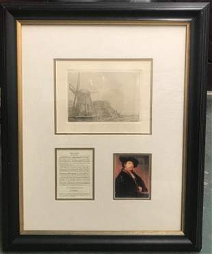 After Rembrandt By Amand-Durand Windmill Engraving