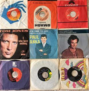lot - 9 70s Vinyl Records 45