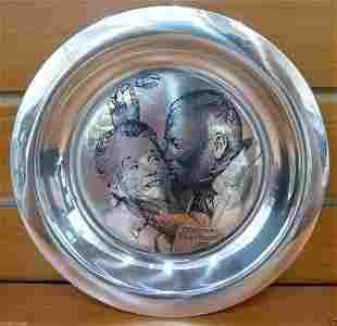 Norman Rockwell 1971 Sterling Silver Plate Franklin Min
