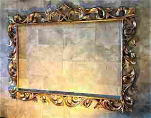 19th Cent. Large Antique Italian Gilt Wood MIRROR Frame