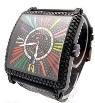 Franck Muller King Master 18K Gold Diamond Mens Watch