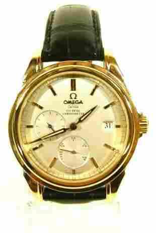 Omega De Ville Co-Axial Escapement 18K Gold Watch