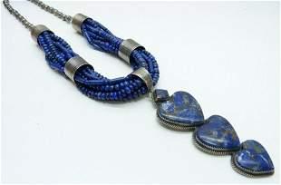 G. Boyd Sterling Silver Lapis Lazuli Navajo Necklace
