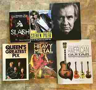 Lot 6 Rock & Roll Guitar Books Slash Queen Aerosmith