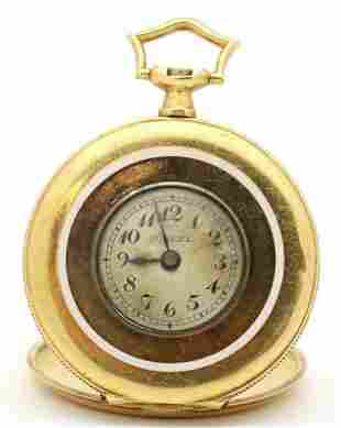 VINTAGE MOVADO FABRIQUES SURETE 18KT GOLD POCKET WATCH