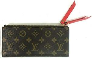 Louis Vuitton Monogram Adele Long Wallet Fuchsia Lining
