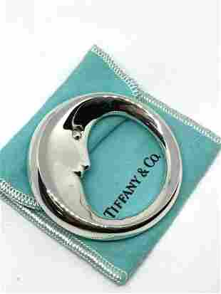 Tiffany & Co 925 Sterling Man in the Moon Baby Rattle