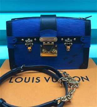 Louis Vuitton Petit Soft Malle Blue Epi Leather Bag