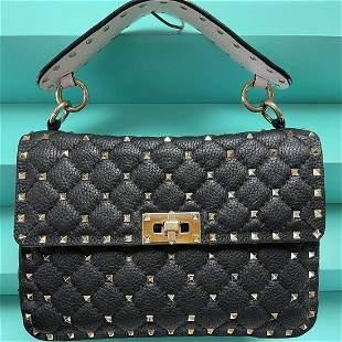 Valentino Garavani Rockstud Spike Medium Bag Black