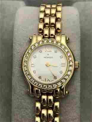 Movado Brileti 14k Yellow Gold Lady's Watch Diamond
