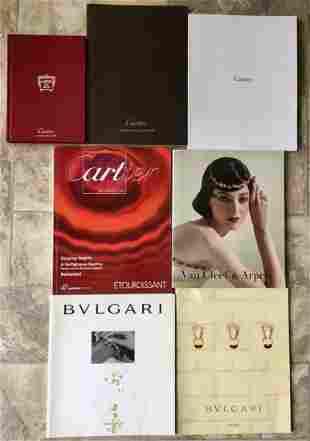 Lot 7 Catalogs Cartier Bvlgari Van Cleef & Arpels