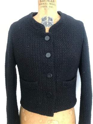 Rare CHANEL Wool Jacket Size 40 Made in France