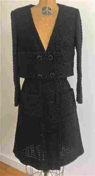 CHANEL 2021 Collection Set Jacket with Skirt Black
