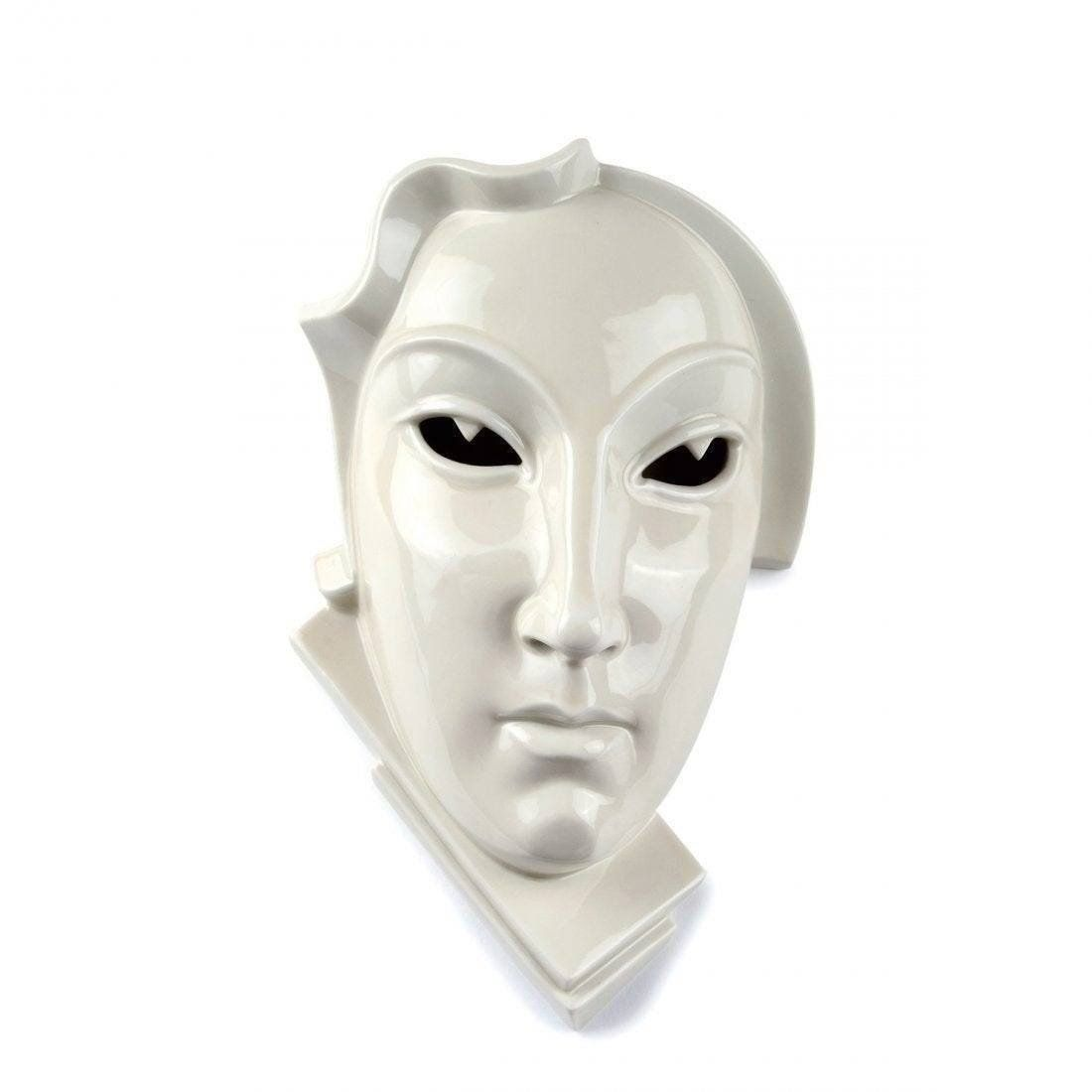 Ca. 1926 Rare Art Deco Rosenthal LG Porcelain Wall Mask