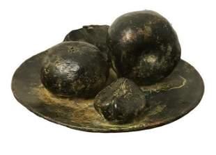 RAFAEL MUYOR (SPANISH b.1943) Bronze Sculpture Fruit