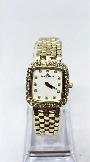 Baume & Mercier Quartz 14k Gold Diamond Ladies Watch