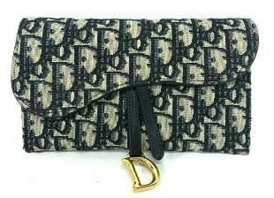 Christian Dior Oblique Monogram Long Saddle Bag