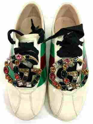 Gucci Falacer Patent Leather GG Vernice Crsytal Sneaker