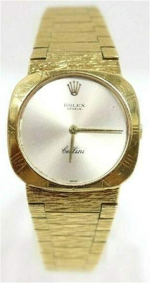 Rolex Cellini Cal 1600 18K Yellow Gold Ladies Watch