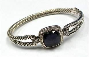 DAVID YURMAN Amethyst Diamond Albion Sterling Bracelet